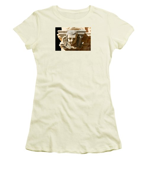 Women's T-Shirt (Junior Cut) featuring the photograph Mission San Jose Angel by Jeanette French