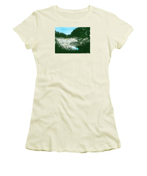 Mist On The River Ouse Women's T-Shirt (Athletic Fit)