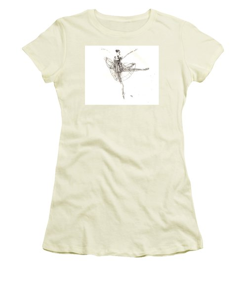 Misty Ballerina Dancer IIi Women's T-Shirt (Athletic Fit)