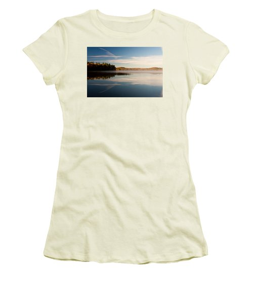 Misty Morning Women's T-Shirt (Junior Cut) by Brent L Ander