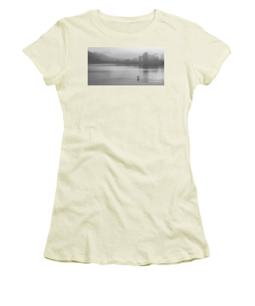 Misty Morning On The Lake Women's T-Shirt (Junior Cut) by Linsey Williams