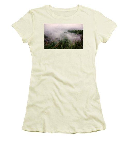 Misty Pines Women's T-Shirt (Junior Cut)
