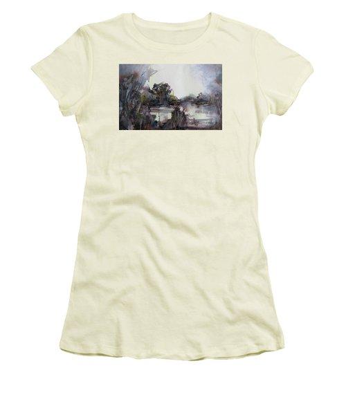 Misty Pond Women's T-Shirt (Athletic Fit)