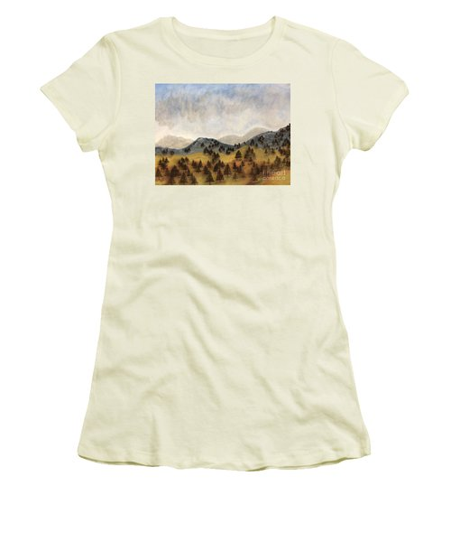 Misty Rain On The Mountain Women's T-Shirt (Athletic Fit)