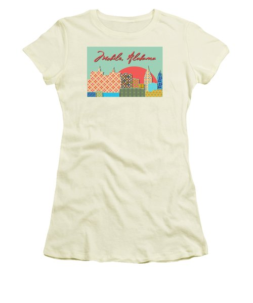 Mobile Patchwork Women's T-Shirt (Athletic Fit)