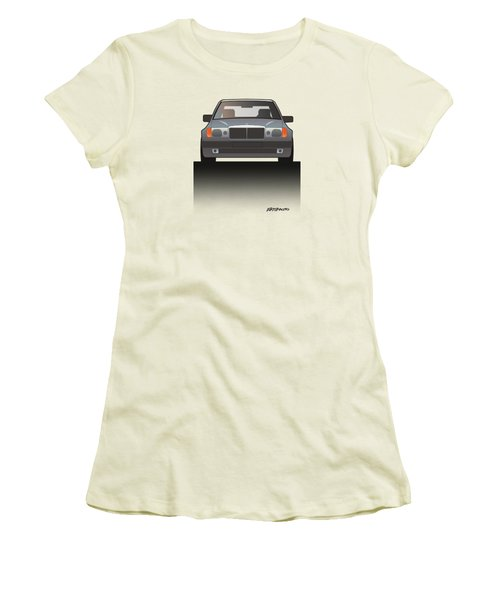 Modern Euro Icons Series Mercedes Benz W124 500e Split  Women's T-Shirt (Athletic Fit)