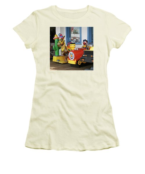 Mommy Let's Ride Women's T-Shirt (Athletic Fit)