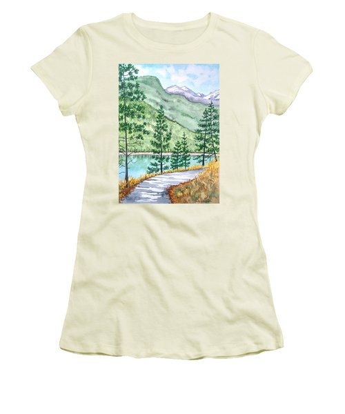 Montana - Lake Como Series Women's T-Shirt (Athletic Fit)