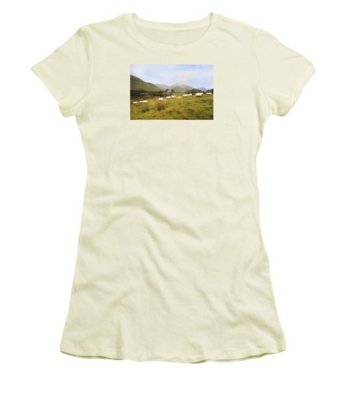 Women's T-Shirt (Junior Cut) featuring the photograph Morning At Kilchurn by Roy  McPeak