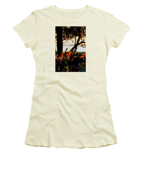 Women's T-Shirt (Junior Cut) featuring the photograph Morning In Florida by Diane Merkle