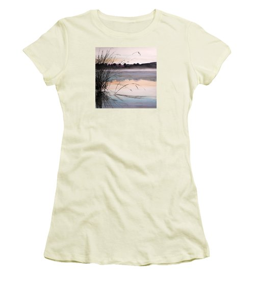 Women's T-Shirt (Junior Cut) featuring the painting Morning Light by John Williams