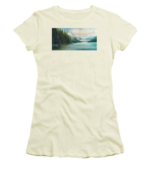 Morning Ride Women's T-Shirt (Junior Cut) by Douglas Castleman