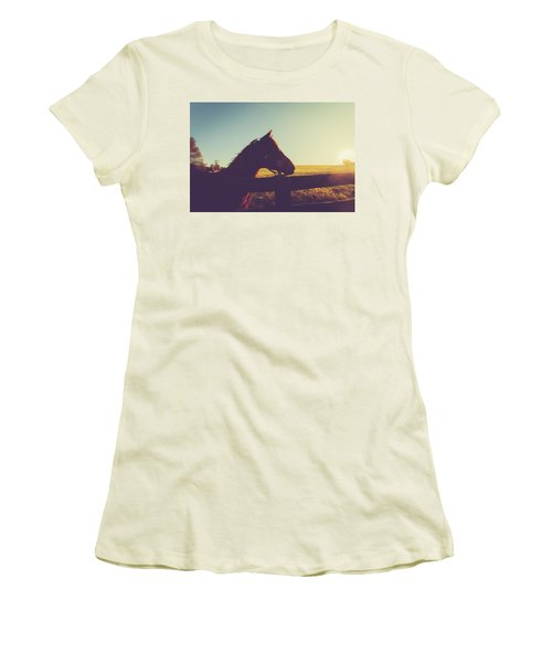 Women's T-Shirt (Junior Cut) featuring the photograph Morning  by Shane Holsclaw