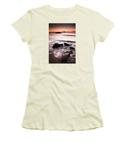 Women's T-Shirt (Athletic Fit) featuring the photograph Morning Tide by Jorgo Photography - Wall Art Gallery