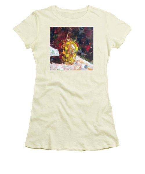 Mosaic Apple Women's T-Shirt (Junior Cut) by Roxy Rich