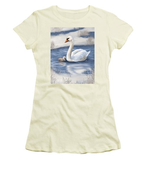 Women's T-Shirt (Junior Cut) featuring the painting Mother Love by Veronica Minozzi