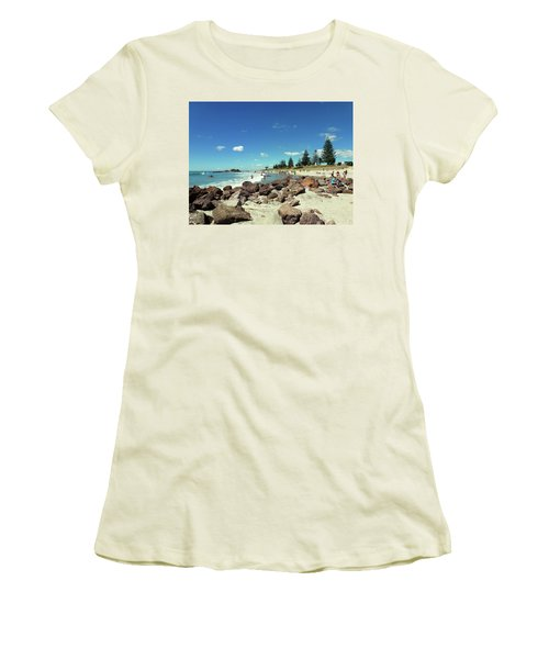 Mount Maunganui Beach 2 - Tauranga New Zealand Women's T-Shirt (Junior Cut) by Selena Boron