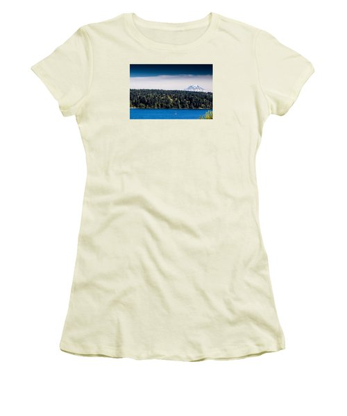 Mount Rainier Women's T-Shirt (Athletic Fit)