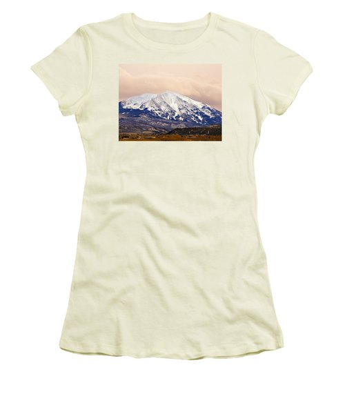 Mount Sopris Women's T-Shirt (Junior Cut) by Marilyn Hunt