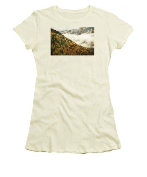 Mountain Landscape Women's T-Shirt (Junior Cut) by Vittorio Chiampan