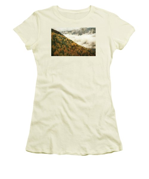 Mountain Landscape Women's T-Shirt (Athletic Fit)