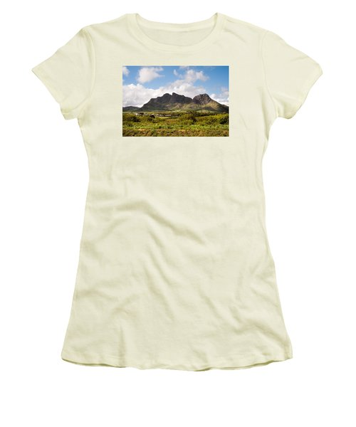 Women's T-Shirt (Junior Cut) featuring the photograph Mountain Range In Mauritius by Jenny Rainbow