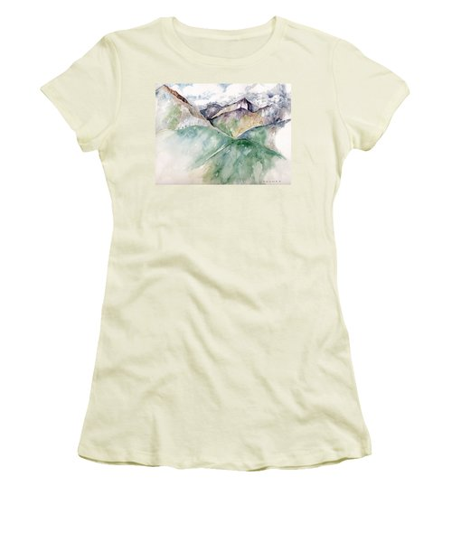 Mountain View Colorado Women's T-Shirt (Junior Cut) by Catherine Twomey