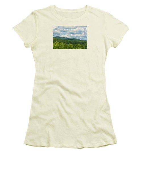 Mountain Vista In Summer Women's T-Shirt (Junior Cut) by Nancy De Flon