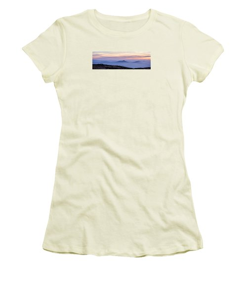 Women's T-Shirt (Junior Cut) featuring the photograph Mountains And Mist by Marion McCristall