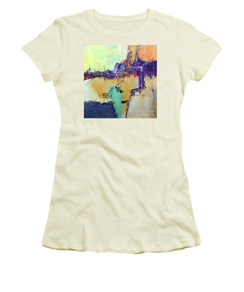 Movin' Left Women's T-Shirt (Junior Cut) by Ron Stephens