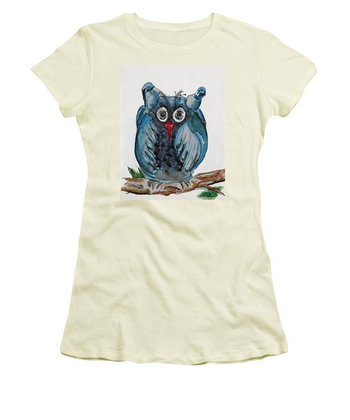Mr. Blue Owl Women's T-Shirt (Athletic Fit)