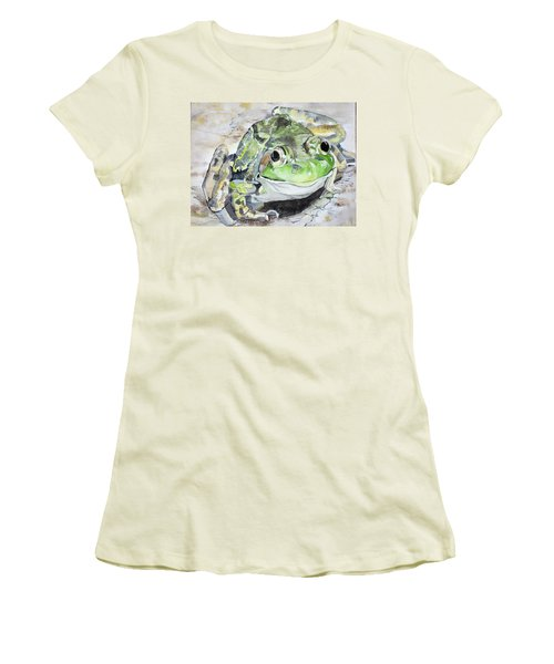 Mr Frog  Women's T-Shirt (Athletic Fit)