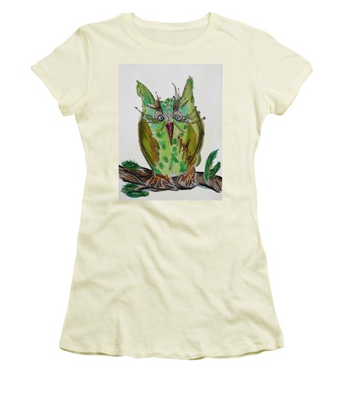 Mr.lime Owl Women's T-Shirt (Athletic Fit)