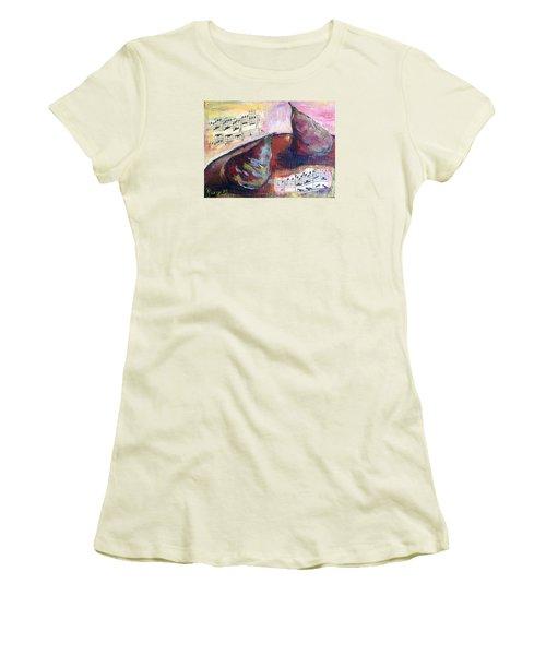 Musical Pears Women's T-Shirt (Junior Cut) by Roxy Rich