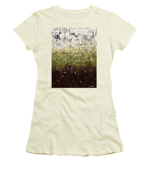 Women's T-Shirt (Junior Cut) featuring the painting Musing by Carmen Guedez