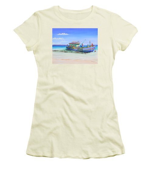 Mv Alice Mary Women's T-Shirt (Junior Cut) by Patricia Piffath