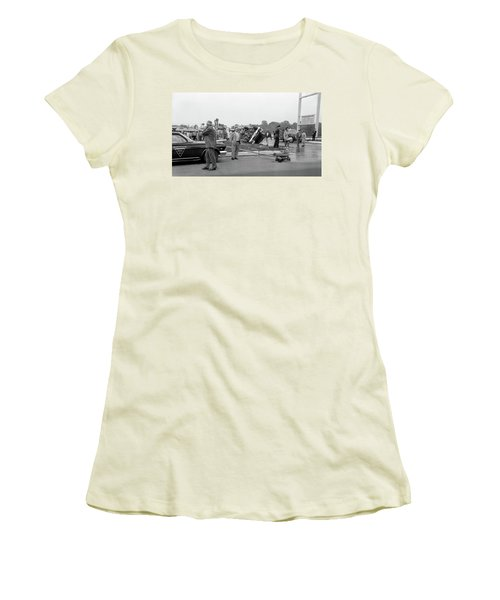 Mva At Shopping Center Women's T-Shirt (Junior Cut) by Paul Seymour