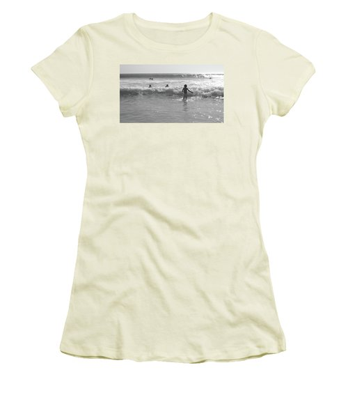 My Fist Time In The Sea Women's T-Shirt (Junior Cut) by Beto Machado