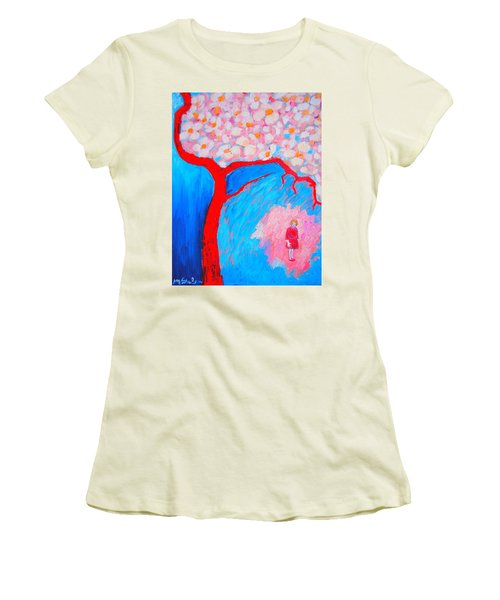 Women's T-Shirt (Junior Cut) featuring the painting My Spring by Ana Maria Edulescu