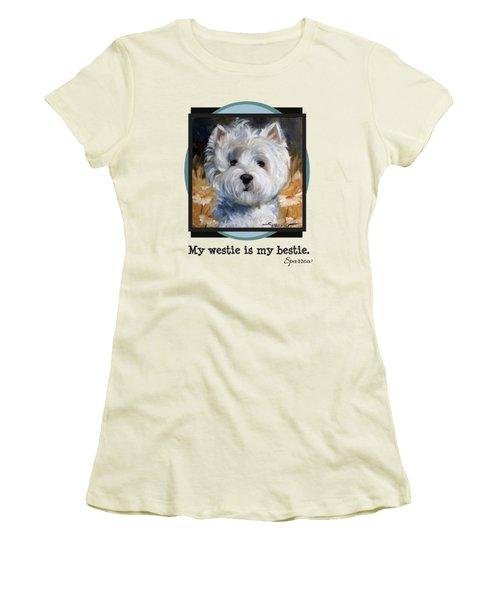 My Westie Is My Bestie Women's T-Shirt (Athletic Fit)