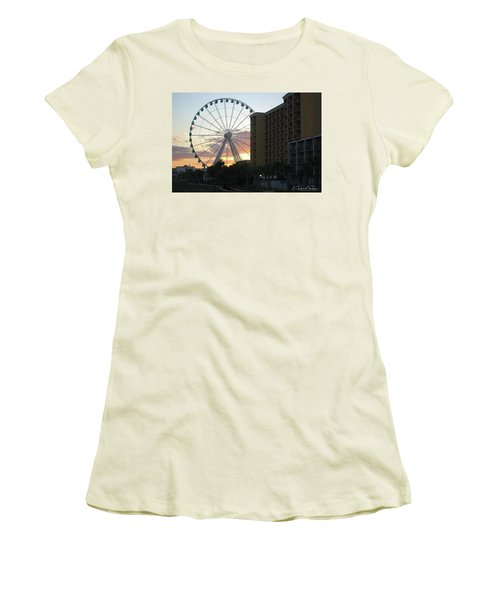 Myrtle Beach Sunset 2 Women's T-Shirt (Junior Cut) by Gordon Mooneyhan