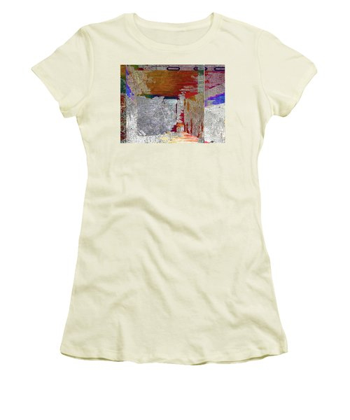 Women's T-Shirt (Junior Cut) featuring the mixed media Name This Piece by Tony Rubino
