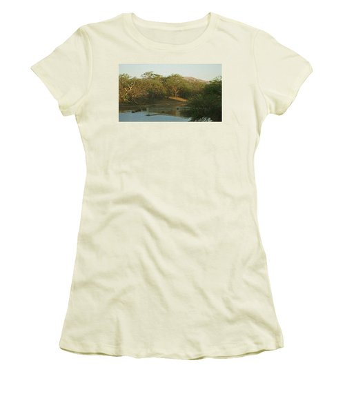 Namibian Waterway Women's T-Shirt (Junior Cut) by Ernie Echols