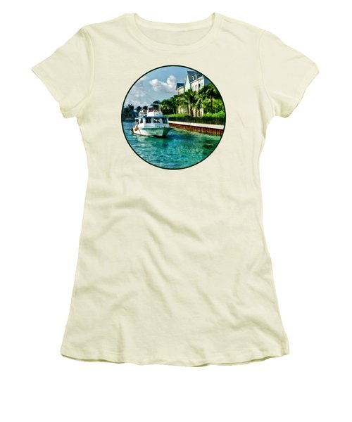 Bahamas - Ferry To Paradise Island Women's T-Shirt (Junior Cut) by Susan Savad