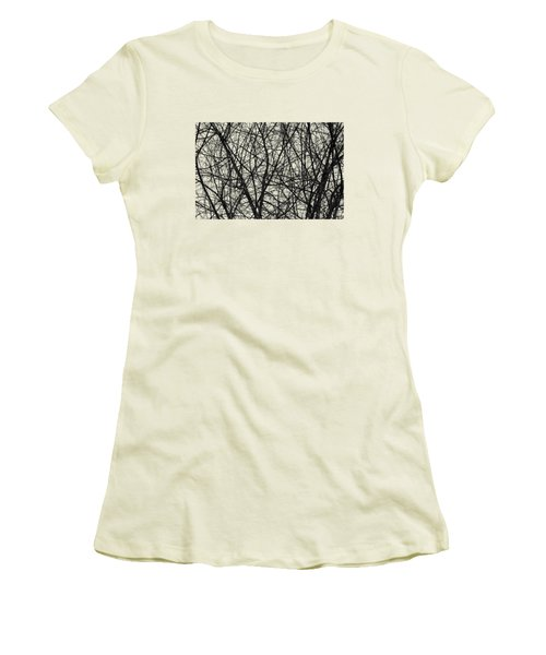 Natural Trees Map Women's T-Shirt (Junior Cut) by Konstantin Sevostyanov