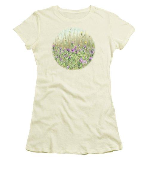 Women's T-Shirt (Junior Cut) featuring the photograph Nature's Graffiti by Linda Lees