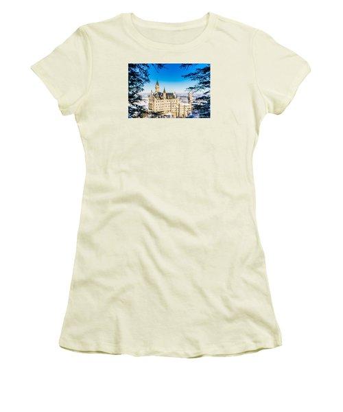 Neuschwanstein Castle Women's T-Shirt (Junior Cut) by Alpha Wanderlust