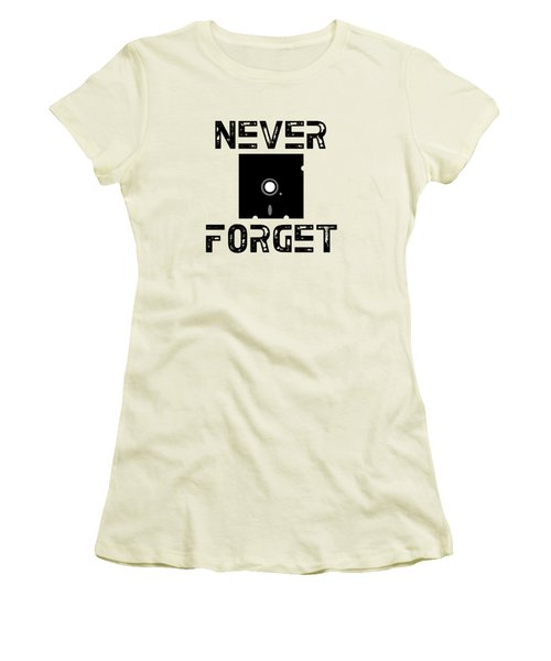 Never Forget Women's T-Shirt (Junior Cut) by Mariel Constantino