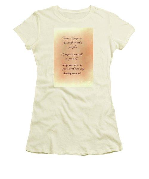 Women's T-Shirt (Junior Cut) featuring the digital art Never by Jim  Hatch