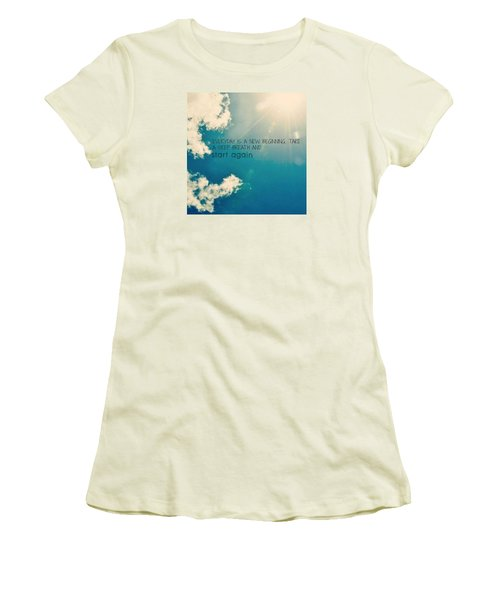 Women's T-Shirt (Junior Cut) featuring the photograph New Beginning by Artists With Autism Inc